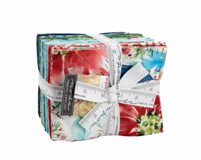 Starflower Christmas Fat Quarter Bundle by Create Joy Project for Moda