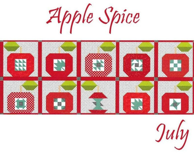"""SALE """"Apple Spice"""" Riley Blake Table Runner of the Month Kit - July 2019"""