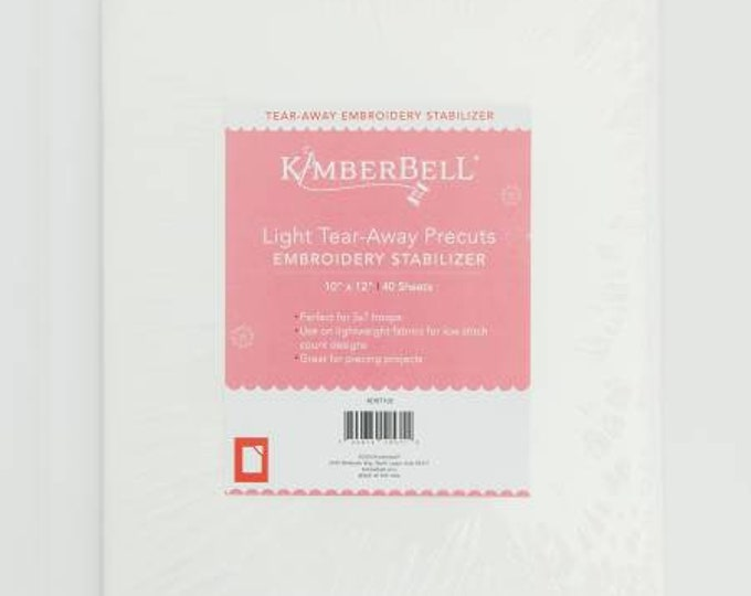Light Tear-Away Precuts Embroidery Stabilizer by Kimberbell