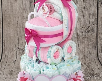 Small diaper cake etsy