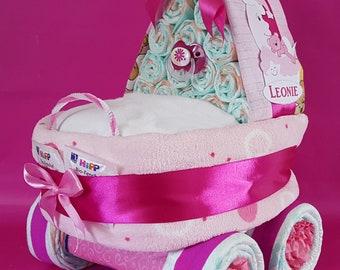 Windel stubenwagen bär in rosa etsy