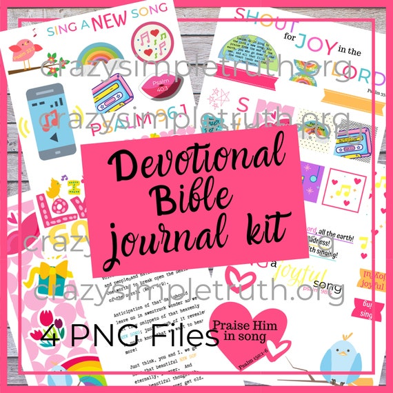 /& more! Die Cuts Sing a New Song Devotional and Printable Stickers for Bible Journaling Faith Planners