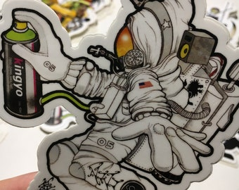 Aerospace Graffiti Astronaut Sticker