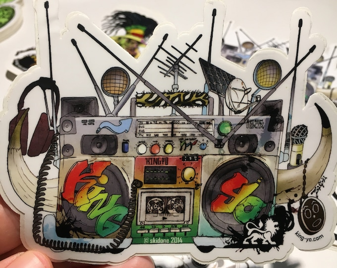 Featured listing image: Boombox Sticker