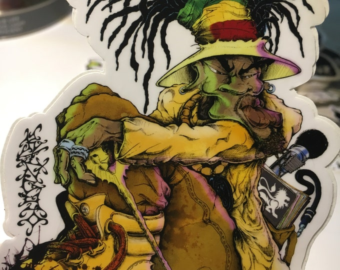 Featured listing image: Rasta Nyahbinghi Sticker