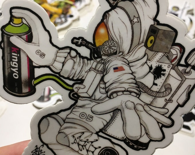 Featured listing image: Aerospace Graffiti Astronaut Sticker