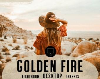 DESKTOP Lightroom presets GOLDEN FIRE Blogger Travel Lifestyle Instagram Warm Orange Lightroom Preset