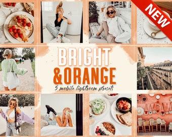 5 Orange Mobile Lightroom Presets, Warm presets, Mobile Lightroom presets, Instagram filter, Presets Mobile, Presets for Blogger, Presets