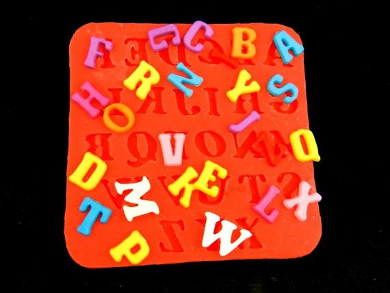 Silikonform Buchstaben Letter Mold 1cm Gross Abc Giessform Alphabet Gietmal Silikonformen Silicone Mold A 0 39 Zoll Giessform Buchstaben Abc