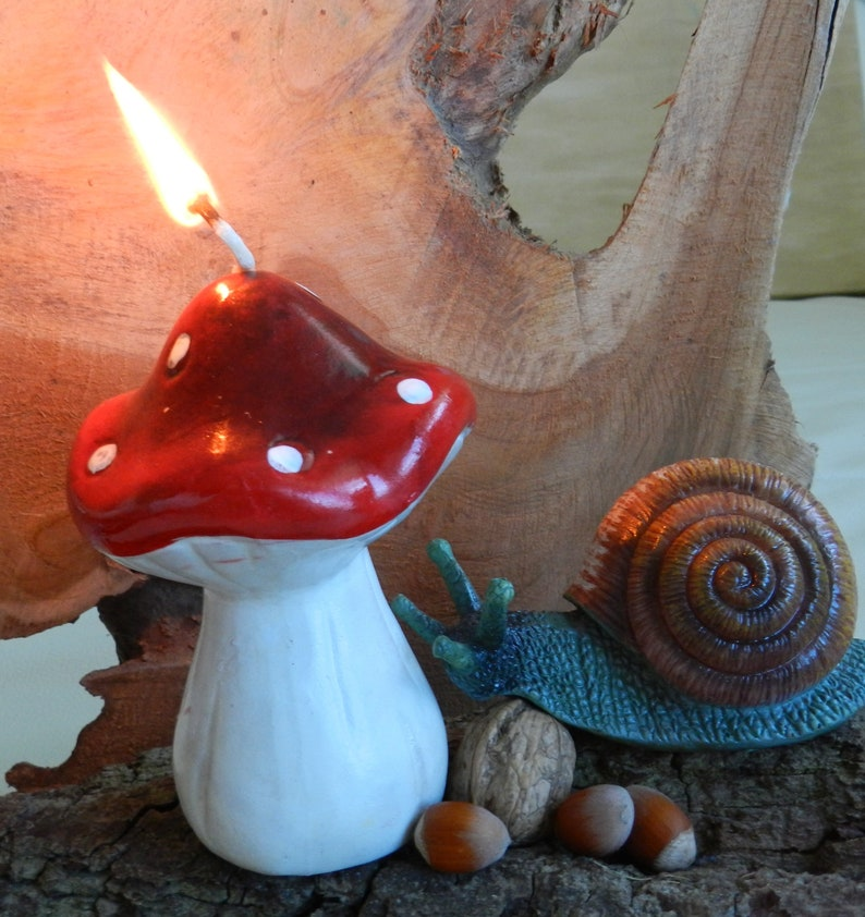 Candle molding mushroom Christmas moulds Autumn mould for candles made of  silicone mould mushroom for concrete autumn 3d mold Mushroom 3d Mould
