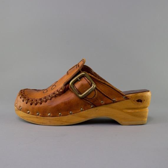70s Vintage Clogs | Wooden Clogs | Vintage Shoes |