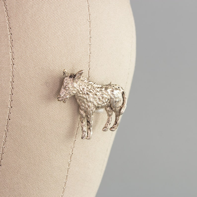 Retro Burro Pin Taxco 925 Sterling Silver Donkey Pin Vintage Brooch Southwestern Aesthetic