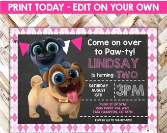 Puppy Dog Pals Centerpiece Designs Printable Download Photo Etsy