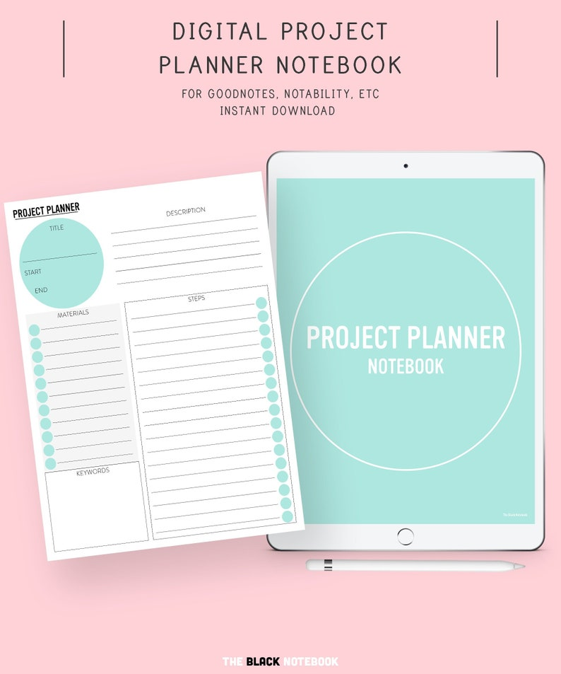 Digital Project Planner, Goodnotes Planner, Project Planner, Project  Planner Ipad, Goodnotes Template