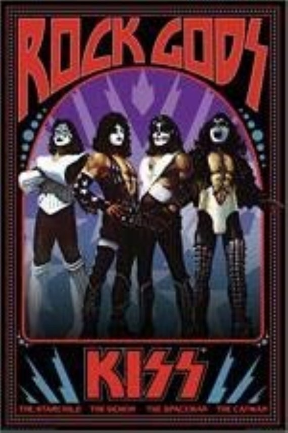 Gene Simmons Face Embroidered Patch Kiss Rock Band Paul Stanley Ace Frehley