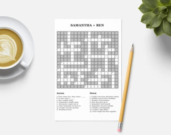 Custom Crossword Etsy