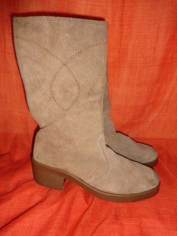 Boots * 41 * Beige * brown * leather * boots *
