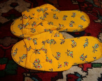 Shoes*Slippers*Sandals*yellow*39*Fabric*