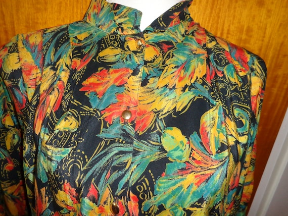 Blouse*Vintage*colorful*80s*eighties*floral*