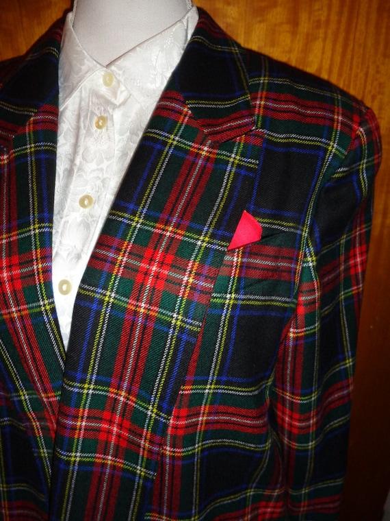 Blazer*Vintage*checkered*oversized*red*42*M*