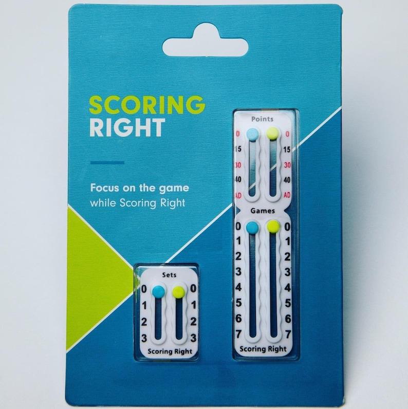 Scoring Right  Tennis Score Keeper  Tennis Score Board Single Pack