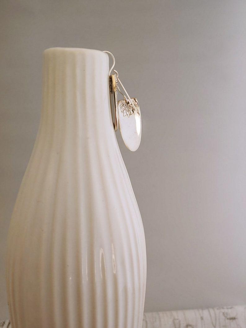 First Love 1937~Earrings~Handmade~Vintage~Silver plate~Spoon Earrings~Handmade~Silver plate~Silverware Flatware Handles~EA2025~