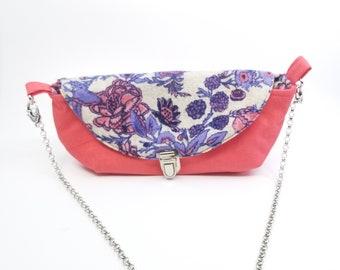 Three Angles Crossbody Bag Handmade Fabric Purse KirsaK
