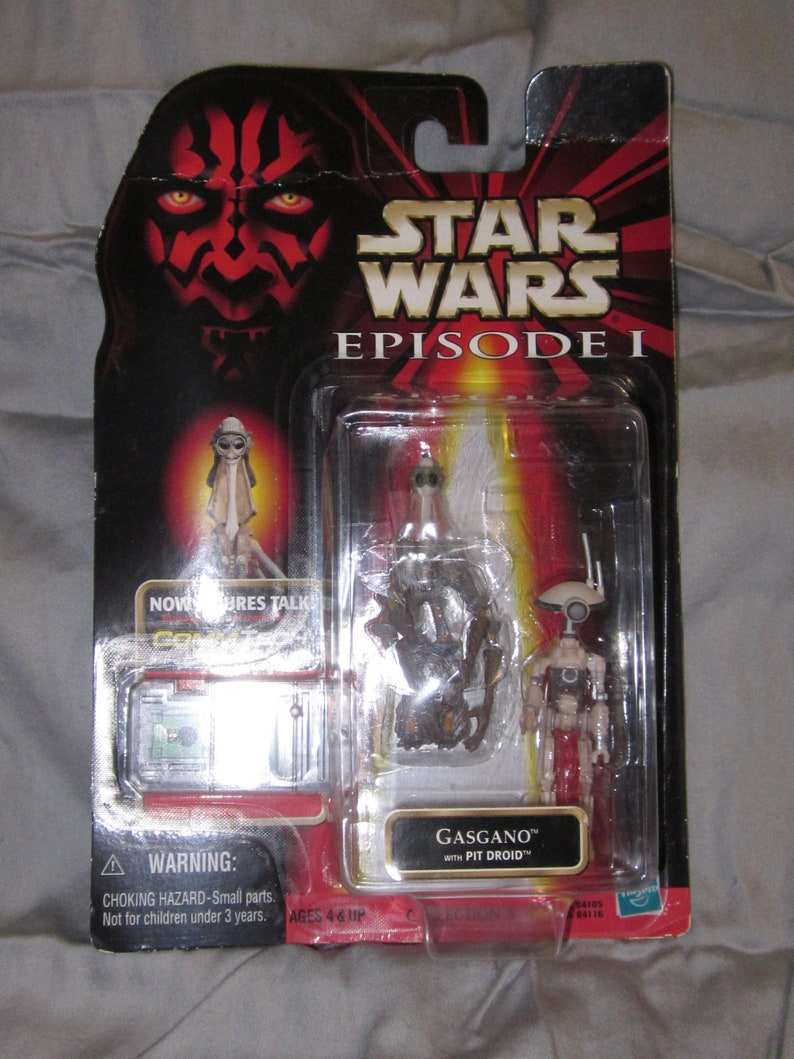Star Wars GASGANO w// Pit Droid Action Figure NEW CommTech Episode 1 Coll. 3