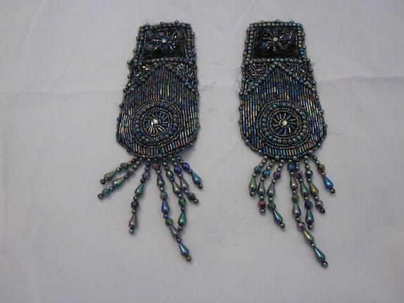 Victorian Beaded Epaulets Set of Two