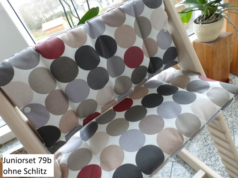 Tripp Trapp Seat Cushion Set Junior Coated Fits Stokke High Chair 2-Piece Pillow Set