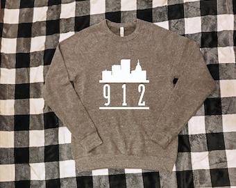 Savannah GA Skyline Crewneck Sweatshirt