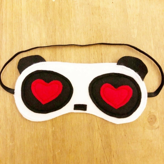 Cat Lover Gift Black Blindfold for Sleeping Relaxation Sleep Blindfold Cat Ears Sleep Mask Cat Sleep Mask with Hearts Travel Eye Mask