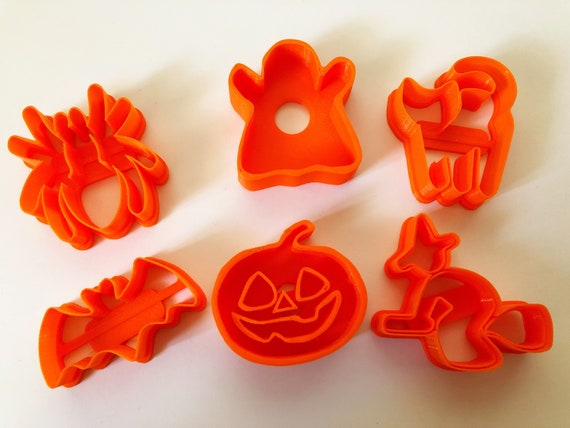 Halloween Themed Cookie Cutter 3 D Printed Set Of 6 by Etsy
