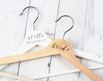 Custom Engraved Wooden Wedding Hanger