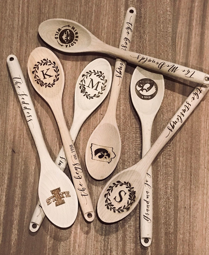 Custom Personalized Wooden Spoon for Keepsake image 0