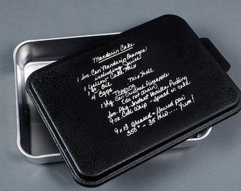 Custom Engraved Recipe on Cake Pan