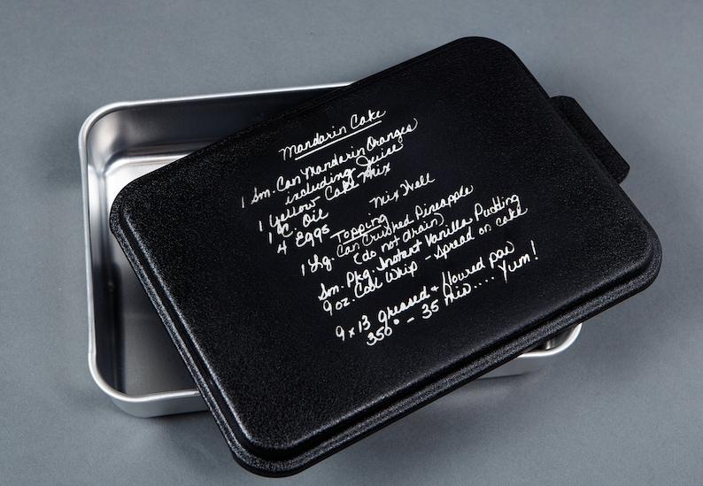 Custom Engraved Recipe on Cake Pan image 0