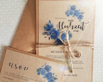 Hochzeiseinladung Vintage Einladungskarte Zur Hochzeit Etsy