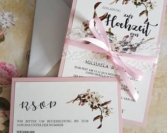 Hochzeitseinladung Schlicht Etsy