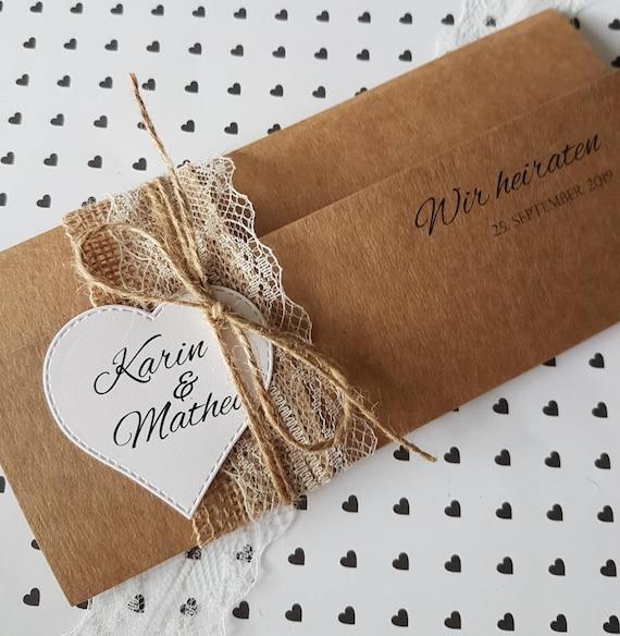 10x Vintage Einladung Zur Hochzeit Hochzeitseinladungen Etsy