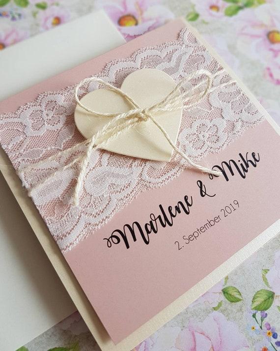 10x Hochzeitseinladung Einladungskarte Zur Hochzeit Etsy