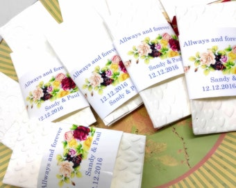 25Tears of joy handkerchief with soap bubbles for the wedding ceremony guest gift with banderole in many colors