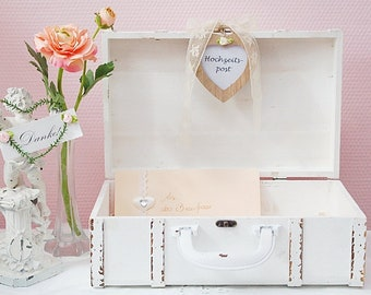 Suitcase Wedding Decoration Card Box Money Gift Letterbox Etsy