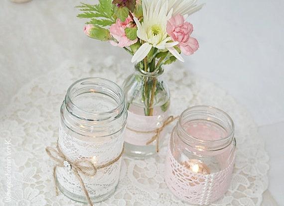 Small Vase Rosa Hochzeitsdeko Vintage Shabby Chic Country Etsy