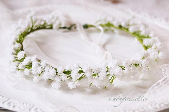 Haarkranz Aus Schleierkraut Blumenkranz Braut Hochzeit 56 Etsy