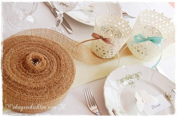 Jute Ribbon 40 M X 5 Cm Table Top Deco Wedding Decoration Jute Etsy