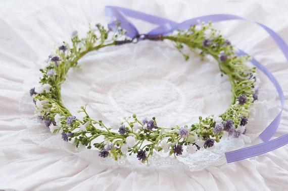 Haarkranz Violet Schleierkraut Blumenkranz Hochzeit Etsy