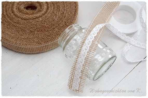 Jute Ribbon 40 M X 3 Cm Table Band Jute Deco Wedding Etsy