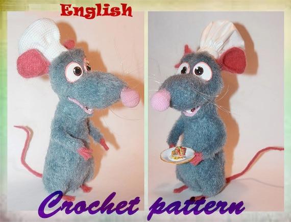 Crochet Pattern rat randall, amigurumi rodent by jennysideenreich | 435x570
