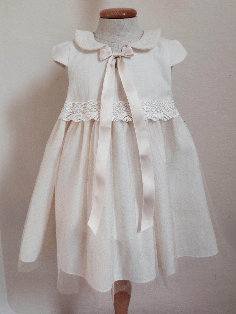 e31b9ae8e5493 Robe hiver bébé fille chaude soirée robe de baptême à manches